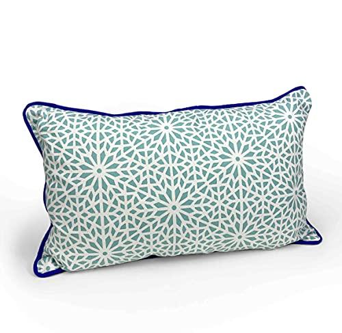 Decoración hogar - Cojín Decorativo Ideal para terraza, salón Decorar sillas, sofás, Bancos y darle un Toque Fresco a tu hogar (Azul)