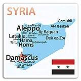 2 x 10 cm Siria Mapa de vinilo pegatinas - Bandera del viaje del equipaje del ordenador portátil # 17209 (10 cm de ancho)