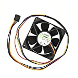 Artidux Replacement Computer Case Cooling Fan 4PIN 0.32A for Dell 9DVNN-A00 Series Compatible Part Number: MF80201VX-Q000-S99 (Cable Length: 25.6in/65cm)