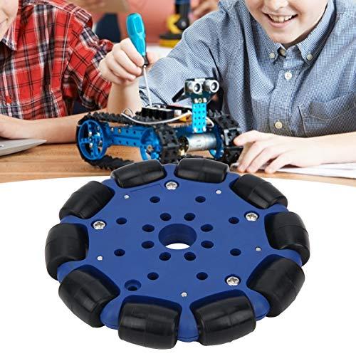 Rueda Omni, Rueda Omni de goma, Agujero central de 14 mm, Diámetro 96 mm, Robusto y portátil, para coche robótico, plataformas de robot, otro kit de robot