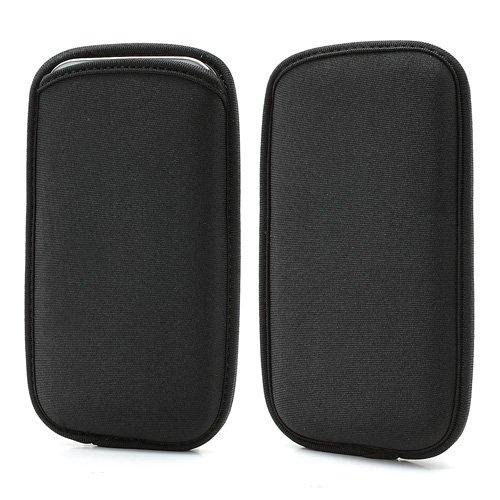 DFVmobile - Wasserabweisende Tasche Neopren aus Flexiblem Dehnbaren Weichen Exklusiv und Premium für AGM X3 (2018) - Schwarz