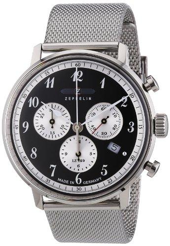 Zeppelin Herren-Armbanduhr XL LZ 129 Hindenburg Chronograph Quarz Edelstahl 7086M2