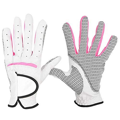 VGEBY1 Golfhandschuhe, 2Pcs PU Leder Frauen Rutschfeste Sporthandschuhe Golf Handschuh Zusätze(20)