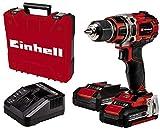 Einhell Taladro/destornillador con Batería TE-CD 18/50 Li BL Kit Power X-Change (Iones de Litio, 18 V, máx. 50 Nm, portabrocas de 13 mm, Motor sin escobillas, incl. 2 Baterías de 2.0 Ah y Cargador)