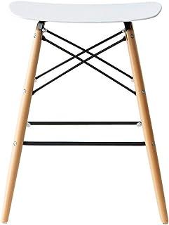 エア・リゾーム バーチェアー カウンターチェアー スツール おしゃれ バーカウンターチェアー デザインバーチェア TAYLOR(テイラー) ホワイト×ナチュラル脚