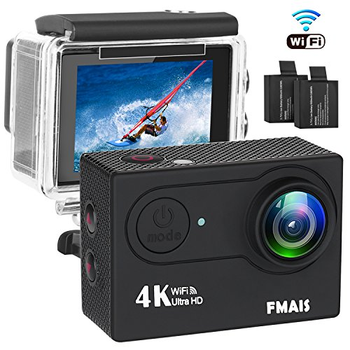 4K WiFi Action Camera Ultra HD 100 piedi Videocamera DV Sport impermeabile 16MP 170 gradi grandangolare con 28 kit di accessori