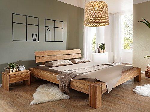 moebel-eins BENISSA Doppelbett Wildeiche geölt, 160 x 200 cm