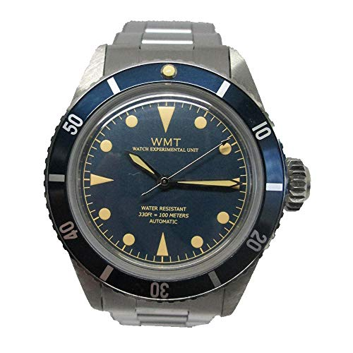 Walter Mitt Sea Diver Marine Acciaio Automatico Blu Orologio Unisex