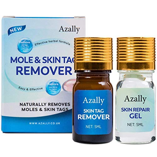 Azally Mole Corrector & Skin Tag Remover Cream with Repair Gel, Remove Moles and Skin Tags, Mole Remover for Face and Body, Safe & Effective Mole Removal Kit