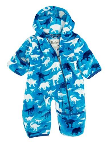 Hatley Fleece Bundler-Silhouette Dinos Pull, 6-12 Mois Bébé garçon