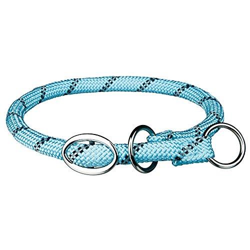 Trixie 14626 Sporty Rope Zug-Stopp-Halsband, S–M: 40 cm/ø 8 mm, hellblau