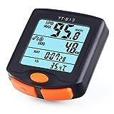 Compteur velo sans fils Ordinateur de vélo Compteur de vitesse numérique Montre Chronomètre Thermomètre de vélo de...