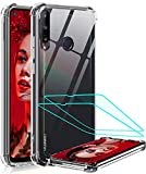 LeYiforHuawei P40 Lite E Case and 2 Tempered Glass