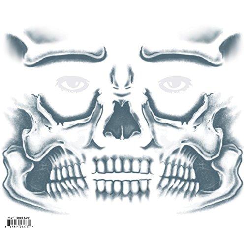 Tinsley Transfers Skull Face, Flesh/Multi, One Size