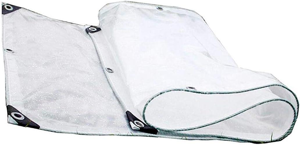 YAN FEI Bache Imperméable Lourde Double Couche Transparente épaississant Pare Soleil Chambre bache Balcon fenêtre Coupe-Vent Coupe-Vent Tissu Transparent Anti-Pluie charnu (Taille   4  8M)