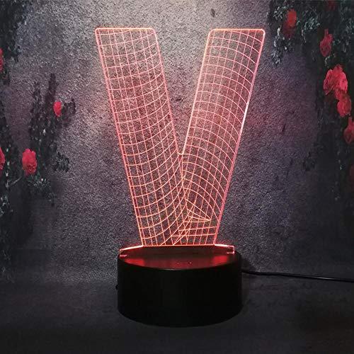 3D Lampes Illusions Optiques Table Illusion Veilleuse Alphabet Décoration De Chambre D'Enfants Cadeaux De Noël Décoration De La Maison