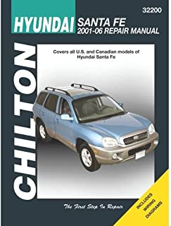 Chilton Automotive Repair Manual for Hyundai Santa Fe 2001-'12 (32200)