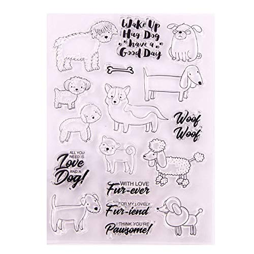 Different Type of Dogs Lovely Friend Pet Dog Love Sentiment Clear Stamps for Card Making Decoration and DIY Scrapbooking