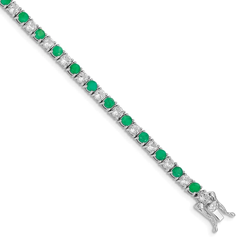 Ryan Jonathan Fine Ranking TOP3 Jewelry Sterling Top and Emerald Super popular specialty store Silver White