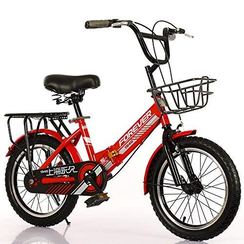 TopBlïng Niños Bicicleta Plegable 16 Pulgadas Rueda con Una Canasta Y Handbrake,5-10 años.Chico Bike,Portátil Bicicleta Adolescentes Folding Bike-A 16 Pulgadas