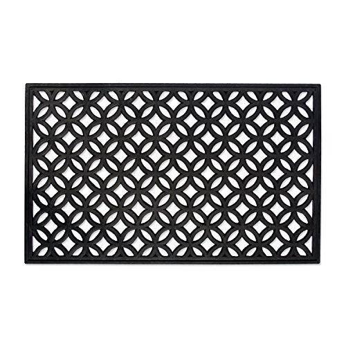 """DII Indoor Outdoor Rubber Easy Clean Entry Way Welcome Doormat, Floor Mat, Rug For Patio, Front Door, All Weather Exterior Doors, 18 x 30"""" - Lattice"""