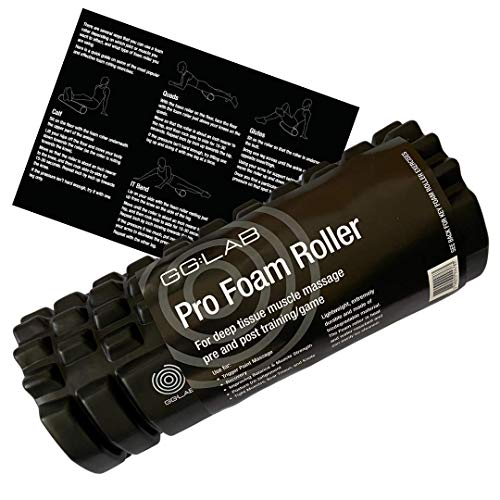 GG:LAB Pro Foam Roller | Deep Tissue Massage | Pre & Post Game | Includes Exercises | As used by leading Goalkeepers/Footballers