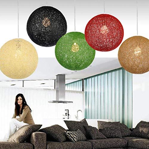5151BuyWorld lamp voor slaapkamer, eenvoudig, rotan, kogel, natuur, snoer, wijn, hanger, verlichting, voor restaurants, hoogwaardige kwaliteit