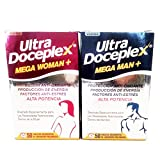 ultra doceplex mega man + ultra doceplex mega women 54 active ingredients to ensure that your daily nutritional needs are met.