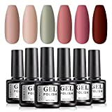 TOMICCA Vernis Gel Semi Permanent 6 Couleurs X 8ml UV LED Vernis à Ongles Gel Soak Off Manucure Cadeau Kit -03
