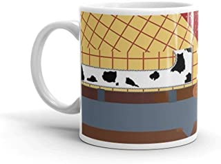 Woody Minimalist. 11 Oz Ceramic Coffee Mug Also Makes A Great Tea Cup With Its Large, Easy to Grip C-handle. 11 Oz Fine Ceramic Mug With Flawless Glaze Finish