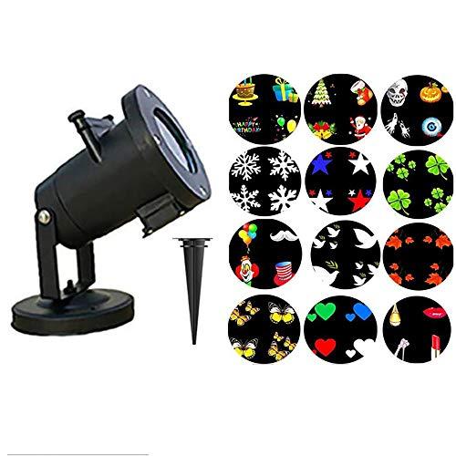 QFQ led-projectorlamp, Kerstmis, 16 modellen kunnen worden gewijzigd voor podiumverlichting, disco, gazon, buitenverlichting, waterdicht.