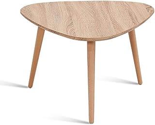 طاولات كرسي، مجموعة جانبية التعشيش المثلثة، أرجل من خشب الزان بلون خشب طبيعي (مقاس : 60 * 40 سم)، الحجم: 90 * 45 سم (المقا...