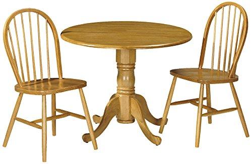 Julian Bowen Dundee dropleaf Tisch mit 2Windsor-Stühlen, honigfarbenes Pinien-Finish