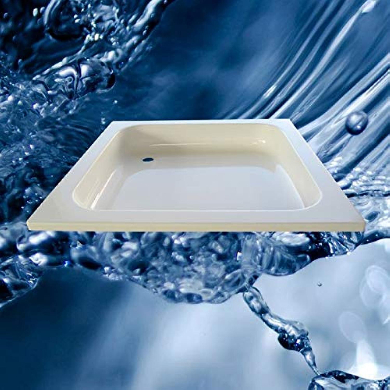 Duschwanne tief, Innenhhe 140 mm, 52er-Ablauf, Acryl, versch. Gren Unterbau ohne Zubehr, Gre 90x90 cm