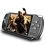 LKTINA 8GB 4.3'' 1000 LCD Screen Handheld Portable Game Console, Media Player with Camera Built in 1200+Real Video Games, for gba/gbc/SFC/fc/SMD Games, Best Gift for Kids and Adults -Black (Medium)