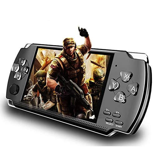 LKTINA 8GB 43'' 1000 LCD Screen Handheld Portable Game Console Media Player with Camera Built in 1200Real Video Games for gba/gbc/SFC/fc/SMD Games Best Gift for Kids and Adults Black Medium