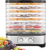 Hopekings Food Dehydrator 400W Fruit and Vegetable Dehydrator 8 Trays, INOX Gray