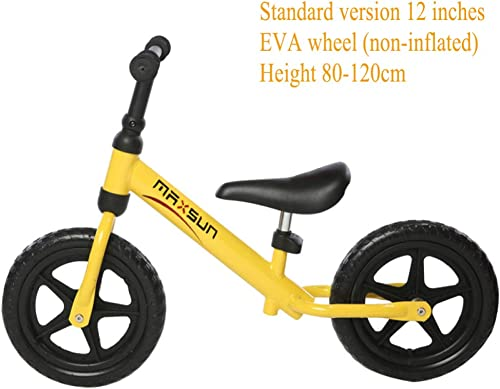 GSDZN - Kinder Laufrad   Metallrahmen   Verstellbarer Sitz   Tragf gkeit 50 Kg   2-6 Jahre   80-120cm   - Sportversion,12 -E