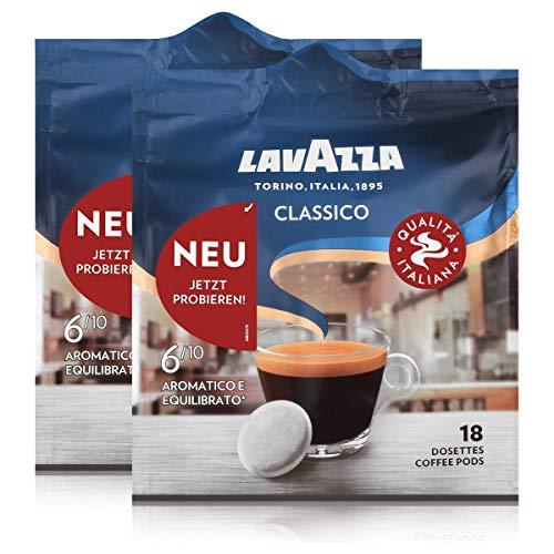 Lavazza Kaffeepads Classico 18 Pads - Für Kaffee-Padmaschinen 125g (2er Pack)