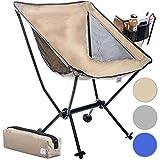 Moonchair Taburete de Camping Moon Chair XXL Silla Plegable Extremadamente cómoda Silla de Camping Asiento de Pesca (Beige)