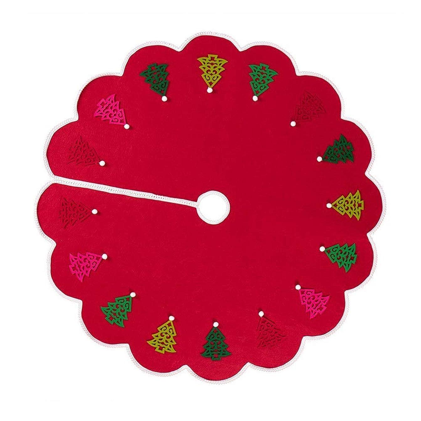 パシフィック夕食を食べるゴールクリスマスツリードレスレッドクリスマスの飾りやアクセサリークリスマスツリーエプロンハッピーホリデー - 120センチメートル