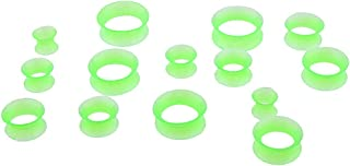Lovoski 7 Pairs Silicone Ear Piercings Plug Tunnels Gauges Expander Stretcher 8-20mm