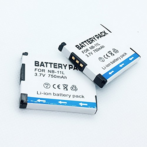 Rechargeable Battery 2 Pack for Canon PowerShot A3400IS, A3500IS, A4000IS Digital Camera