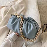 JfsBolso deCueropara Mujer Bolso de axila de Verano Bolsos de Hombro para Mujer Bolso de Mano de Viaje Femenino, Azul, 28cmx15cmx12cm