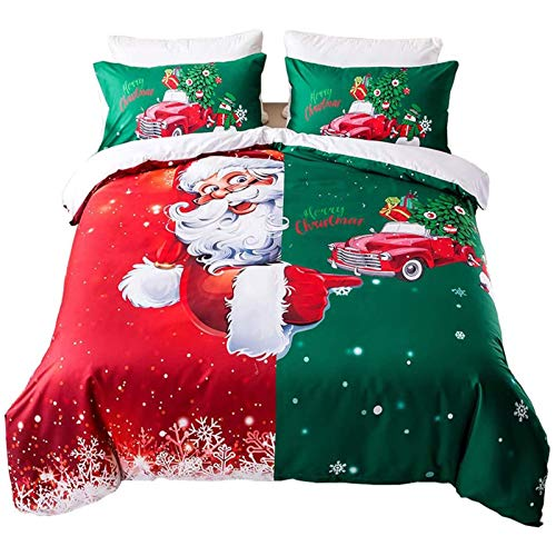 GGDPSJT Christmas Bedding Set, Duvet Cover Girls Children Cartoon Reversible Bedding, Snowman Christmas Decor Bedspread Cover
