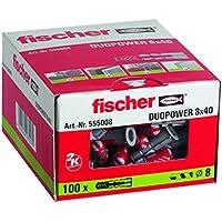 Fischer Taco Duopower 8X40 / (Caja de 100 Uds), 555008, Gris, Set Piezas
