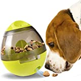 SunGrow Interactive IQ Dog Treat Ball Toy, 4-inches (Diameter) by 4.5-inches (Height), Slow Feeder,...