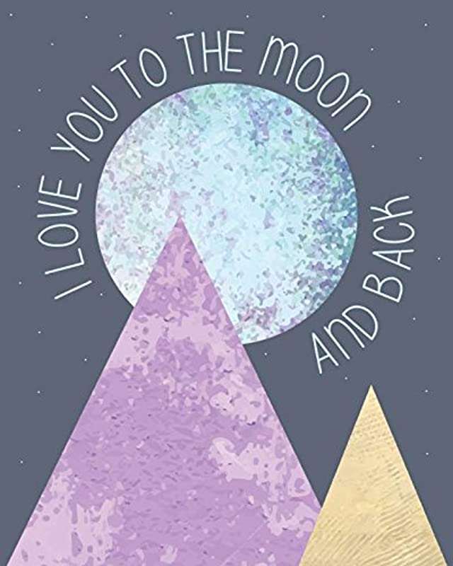 I Love You To The Moon And Back Children S Wall Art Print 11x14 Nursery Decor Kid S Wall Art Print Kid S Room Decor Gender Neutral Decor
