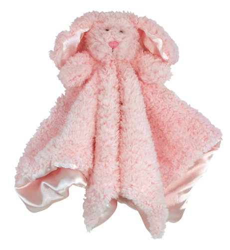 Stephan Baby Plush Cuddle Bud Security Blankie, Pink Bunnie, 1 Count (Pack of 1)