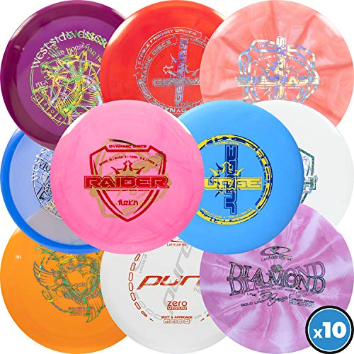 Dynamic Discs   Latitude 64   Westside Discs   Ten Disc Misprint Pack   Disc Golf Starter Pack   Frisbee Golf Discs   Disc Golf Driver   Disc Golf Midrange   Disc Golf Putter (10 Pack)